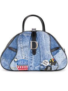 джинсовая сумка-тоут в стиле пэчворк  Christian Dior Vintage
