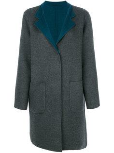contrast lapel coat Manzoni 24