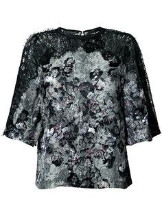 блузка с принтом кожи питона  Yigal Azrouel
