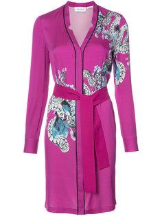 платье-кимоно с абстрактным змеиным узором  Yigal Azrouel