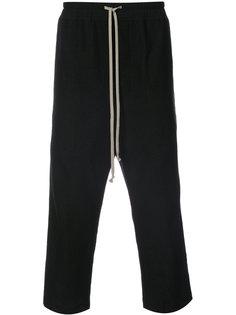 брюки на шнурке с заниженным шаговым швом  Rick Owens