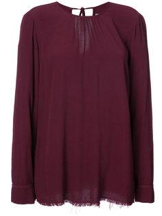 блузка с длинными рукавами и необработанными краями Raquel Allegra
