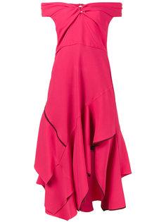 платье с открытыми плечами и вырезом стиля сердце Peter Pilotto