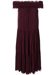 длинное платье с открытыми плечами  Raquel Allegra