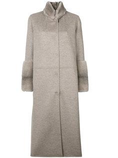 пальто на пуговицах Manzoni 24