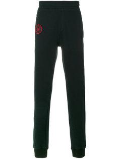 спортивные брюки с вышивкой паука Lanvin