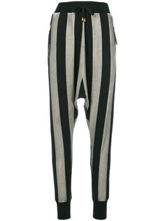 полосатые укороченные брюки Unconditional
