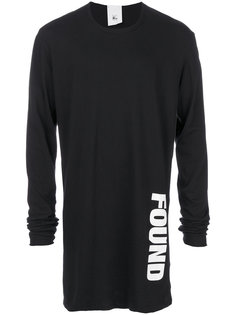 found print longsleeved T-shirt Lost & Found Rooms