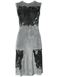 расклешенное платье с вышивкой  Yigal Azrouel