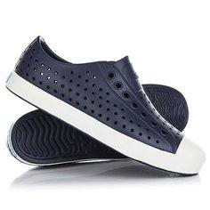 Кеды кроссовки низкие Native Jefferson Regatta Blue/Shell White