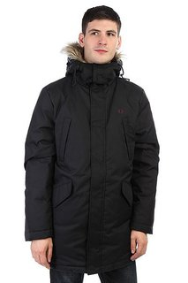 Пуховик Fred Perry Long Length Winter Parka Black