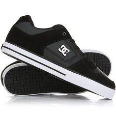 Кеды кроссовки низкие DC Shoes Pure Se Black/Dk Grey
