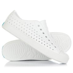 Кеды кроссовки низкие Native Jefferson Shell White/Shell White