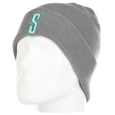 Шапка Fred Perry Vintage S Cuff Beanie Grey