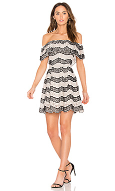 Tiered off the shoulder lace dress - J.O.A.