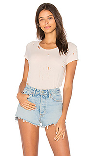Distressed cotton tee - NYTT