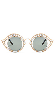 Cat eye crystal metal sunglasses - Gucci