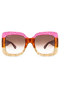 Oversize square-frame acetate sunglasses - Gucci