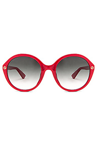 Round-frame acetate sunglasses - Gucci