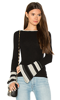 Ribbed pleat cuff sweater - Autumn Cashmere