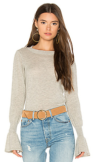 Ruffle sleeve crew sweater - Autumn Cashmere