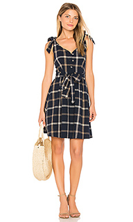 Tie shoulder plaid dress - J.O.A.