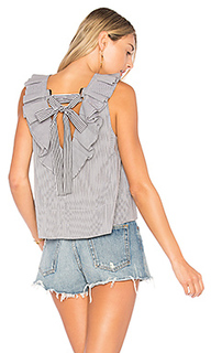 Ruffle strappy top with tie detail - Tibi