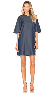 One shoulder bell sleeve dress - Tibi