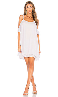 Cold shoulder ruffle mini dress - krisa