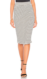 Stripe rib pencil skirt - MONROW