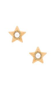 Серьги-гвоздики flat pearl stud - Marc Jacobs
