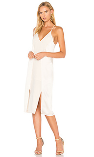 V neck slip dress with back cut outs - Halston Heritage