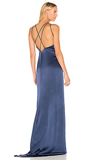 High neck gown with back drape - Halston Heritage