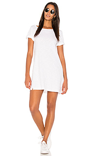 One shoulder roll cuff tee dress - Wilt
