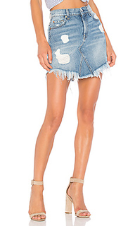 Mini skirt with frayed hem - 7 For All Mankind