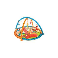 """Развивающий коврик """"Оленёнок Бэмби"""" с подушкой, 5-ю игрушками и пищалкой, Жирафики"""