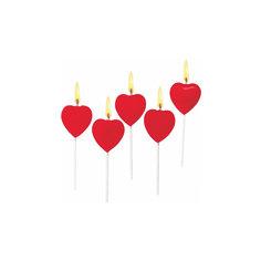 "Свечи для торта ""Сердца"", 5 шт. парафин Herlitz"