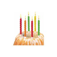 """Свечи для торта """"Twister"""", 6 шт, блистер Herlitz"""
