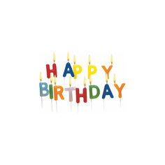 """Свечи для торта """" Happy Birthday"""", 15 шт Herlitz"""