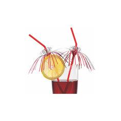 """Трубочки для коктейля """"Гламур"""", 24 см., 10 шт., с фольгой, блистер Herlitz"""
