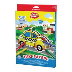 Erich Krause Игровой 3D пазл для раскрашивания Artberry Taxi Patrol (6 фломастеров+2 карты с фигурами для сборки)
