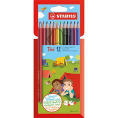 Карандаши цветные 12цв TRIO Stabilo