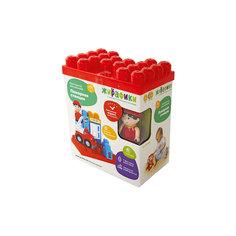 """Конструктор для малышей с фигурками и наклейками """"Пожарная станция"""", 12 деталей, Жирафики"""