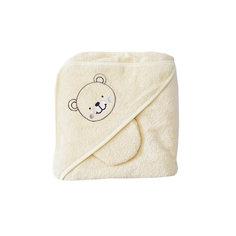 Махровое полотенце с уголком, 75х75 см., Baby Nice, шампань