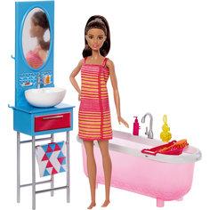 """Набор мебели с куклой """"Ванная комната"""", Barbie Mattel"""