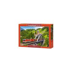 """Пазлы """"Поезд на мосту   """", 500 деталей, Castorland"""