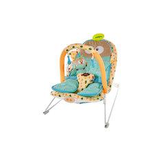 """Кресло-качалка """"Совёнок"""" с анатомической вкладкой, 3-мя игрушками, вибрацией и музыкой, Жирафики"""
