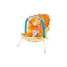 """Кресло-качалка """"Львёнок"""" с 3-мя игрушками, вибрацией и музыкой, Жирафики"""