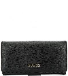 Черный кошелек с двумя отделами для купюр Guess