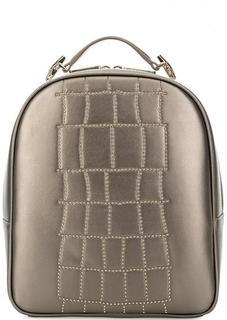 Золотистый рюкзак с тонкими лямками Cavalli Class